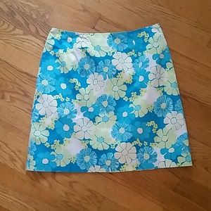 Vintage Lilly Pulitzer Flower mini skirt 4